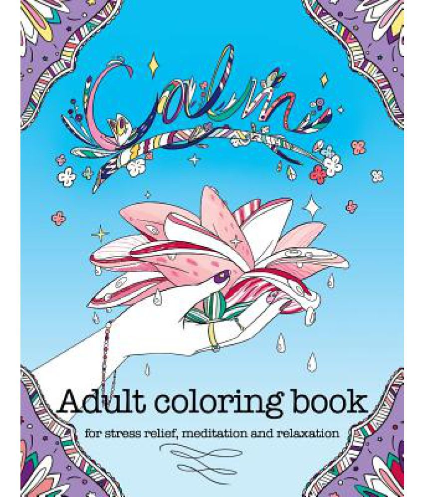 Coloring book adult meditation stress - Calm Adult Coloring Book For Stress Relief Meditation And Relaxation
