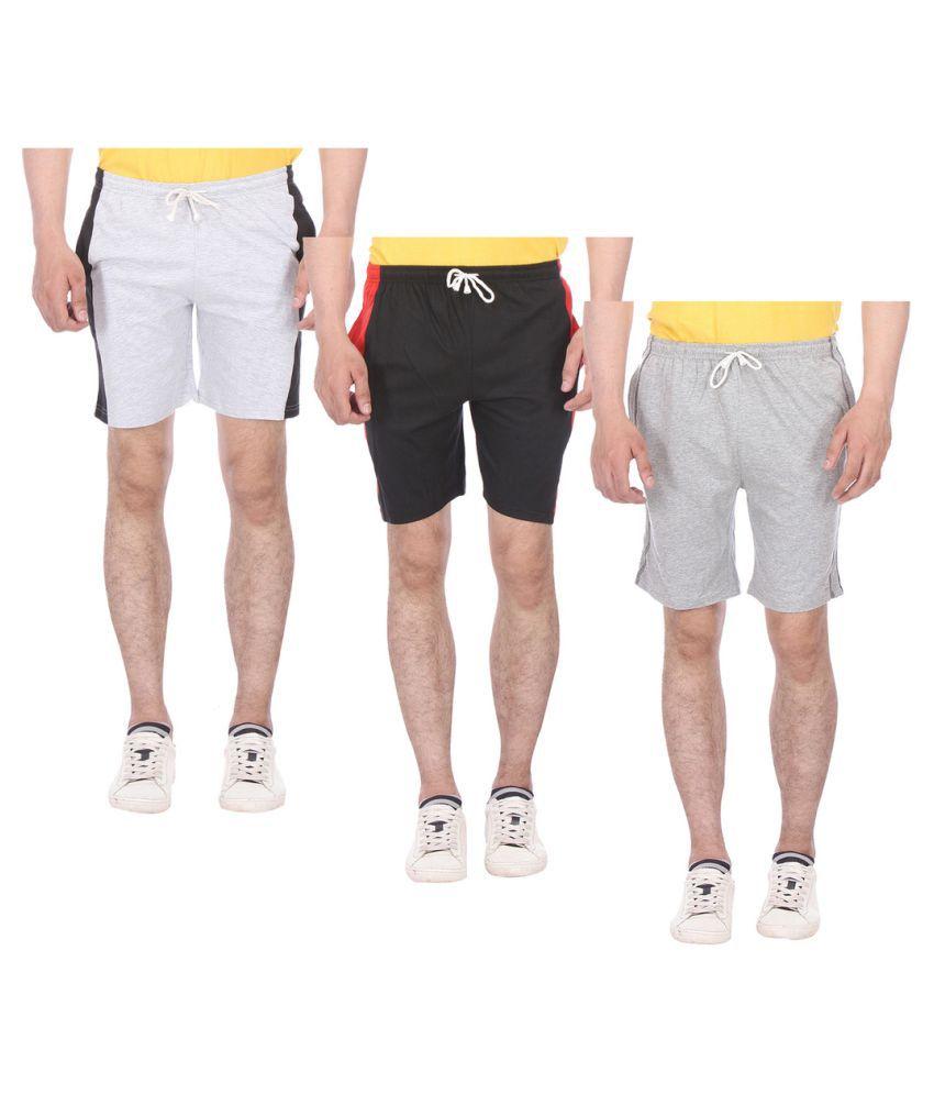 TeesTadka Multi Shorts 3 Shorts