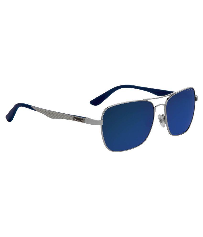 Arcadio Blue Rectangle Sunglasses ( AAR131SL-BLP )