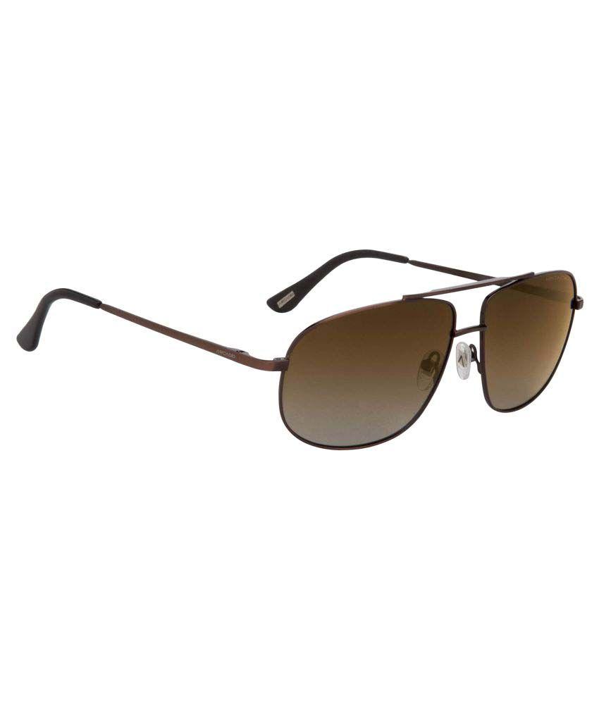 Arcadio Brown Rectangle Sunglasses ( AAR122DB-GBP )