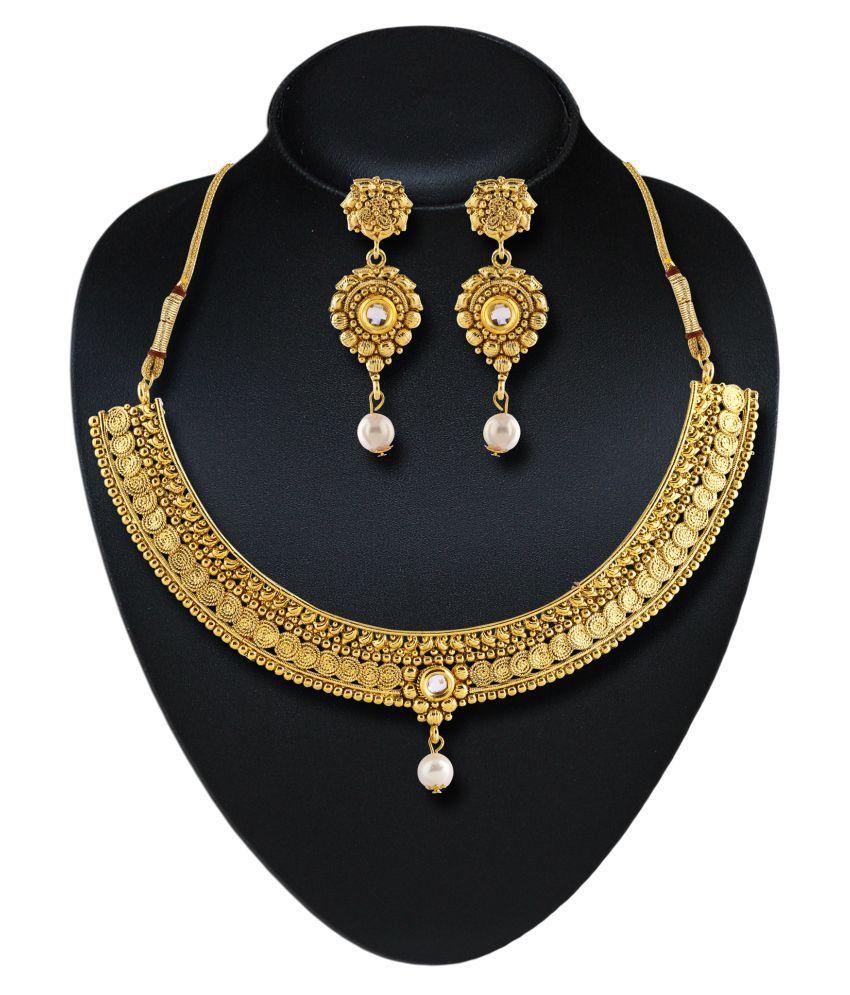 Rich Lady Golden Necklace Set