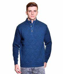 Captor Blue Stand Collar Sweater