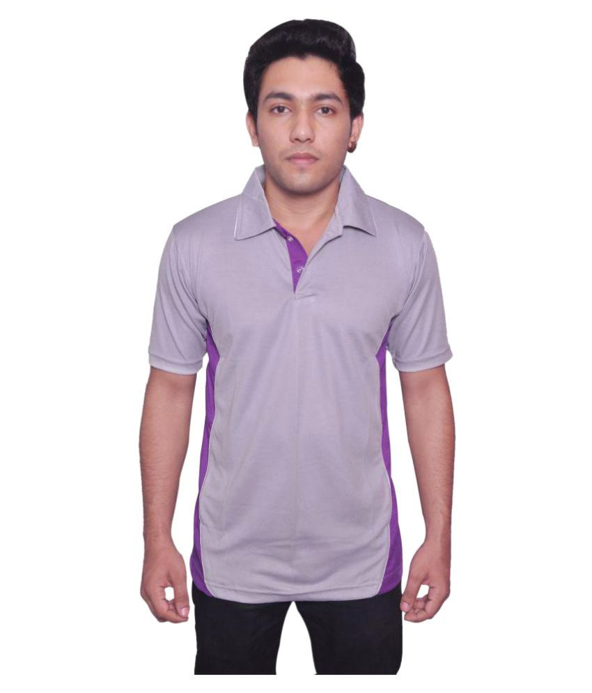 Dyed Colours Grey Polyester T Shirt