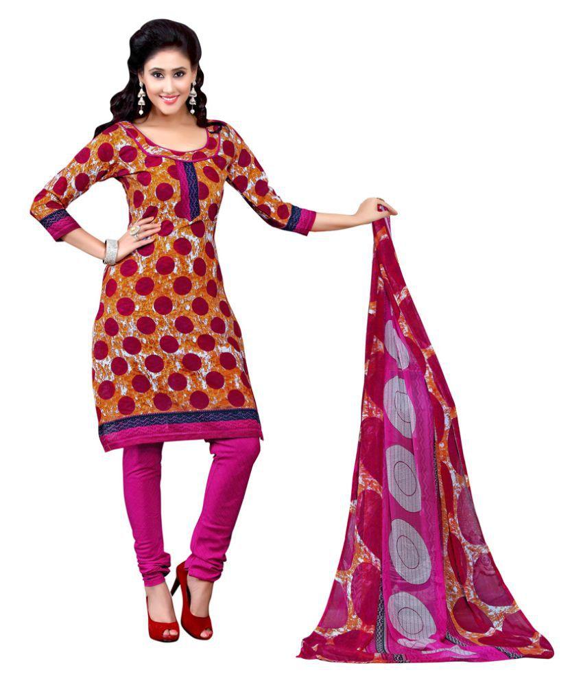 Khoobee Multicoloured Jacquard Dress Material