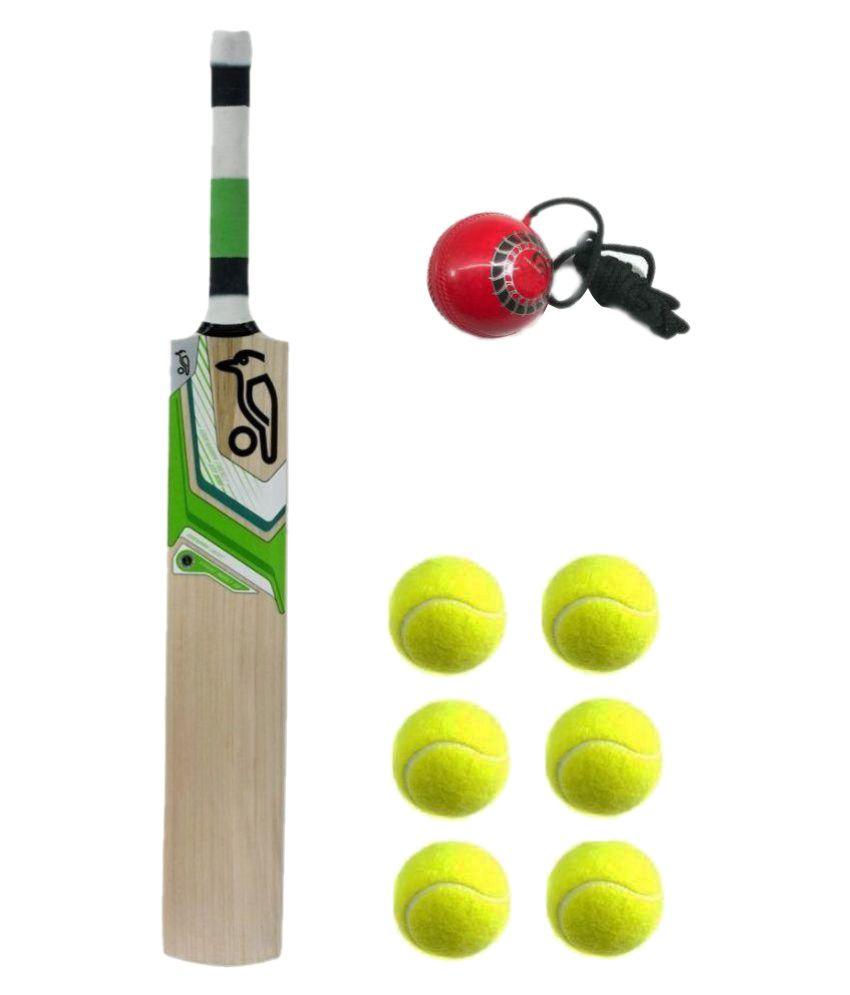 57aceb7c25 Kookaburra (Replica) KW Tennis Combo Kashmir Willow Bat with 6 Tennis Ball   Buy Online at Best Price on Snapdeal