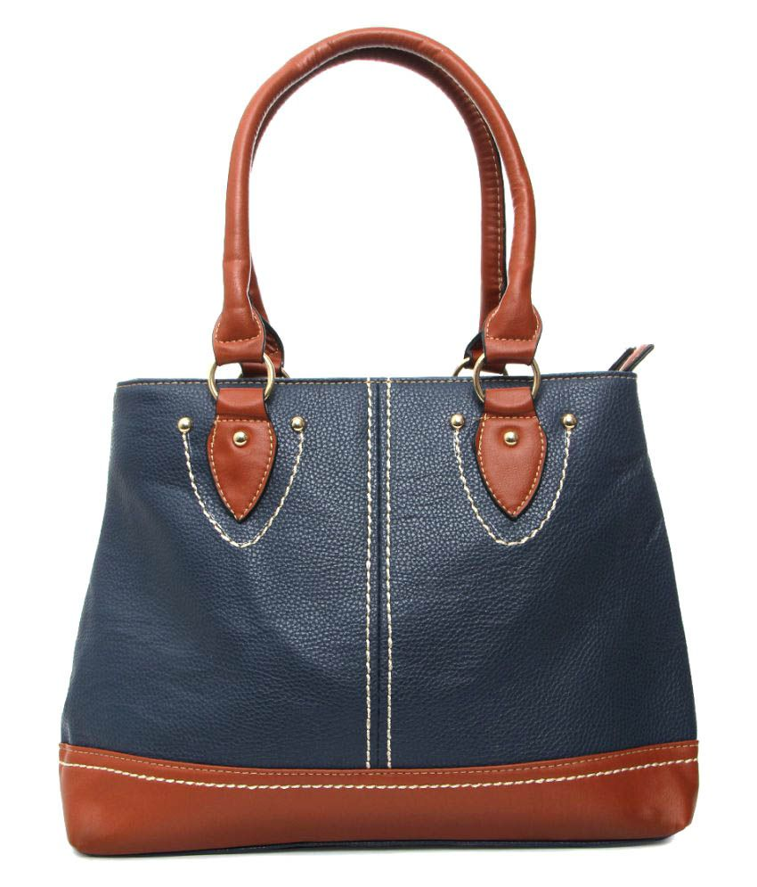 Vero Couture Blue P.U. Shoulder Bag