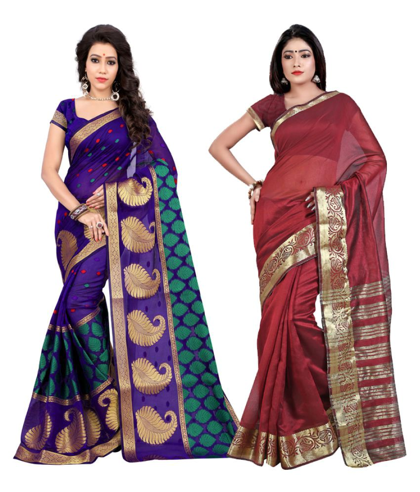 Jay Fashion Multicoloured Cotton Silk Saree Combos