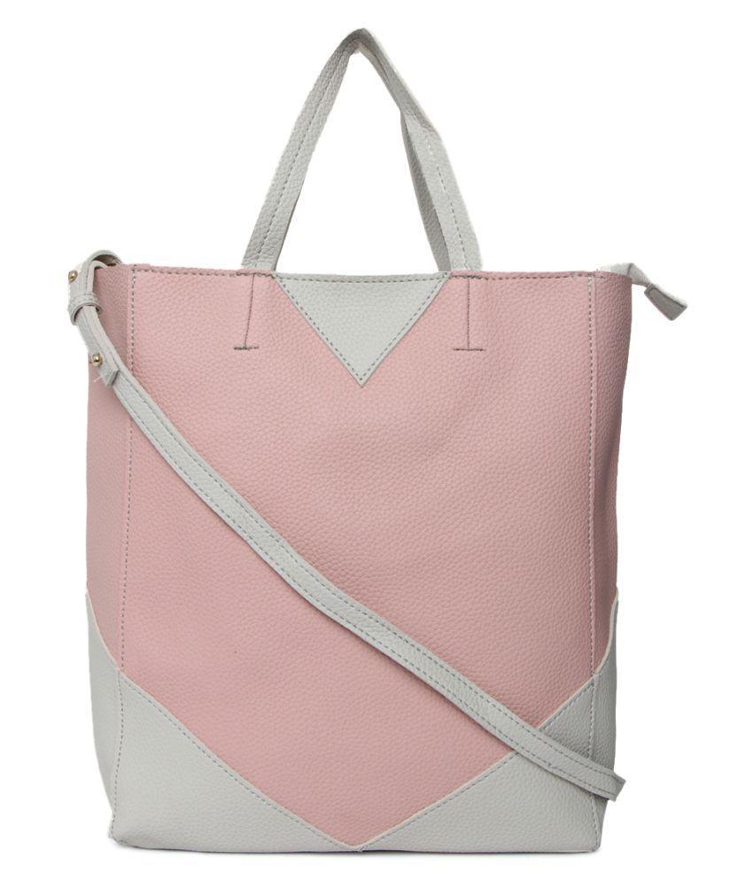Vero Couture Pink P.U. Tote Bag
