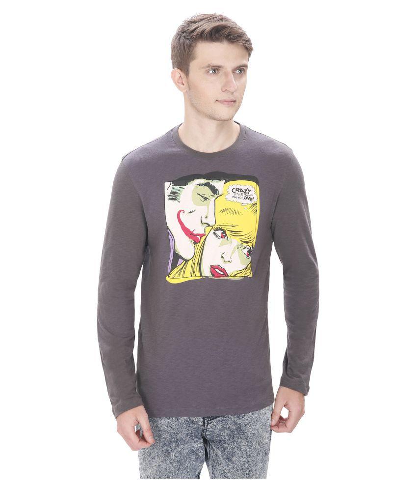Atlaa Batlaa Grey Round T-Shirt