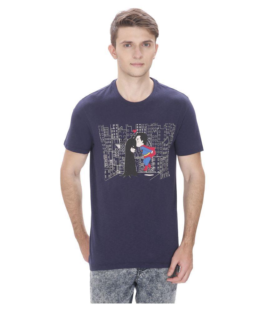 Atlaa Batlaa Navy Round T-Shirt