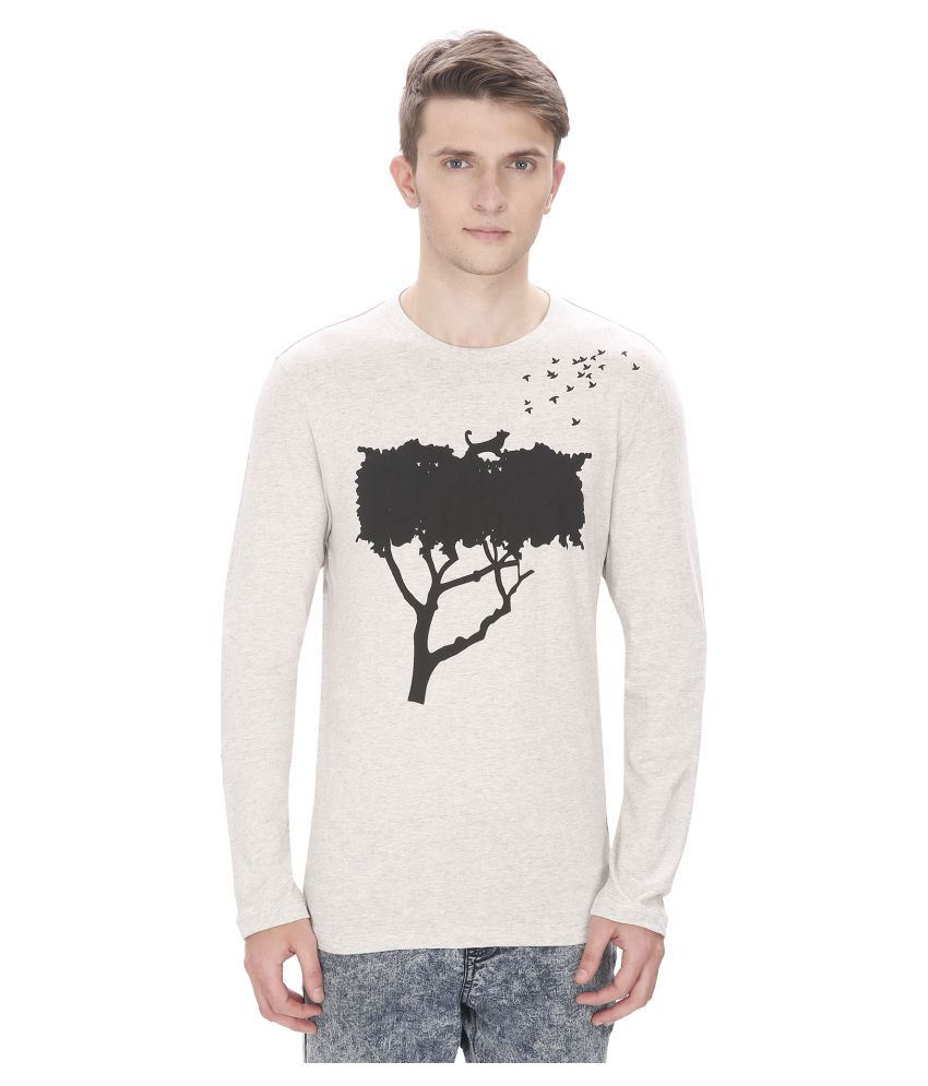 Atlaa Batlaa Off-White Round T-Shirt
