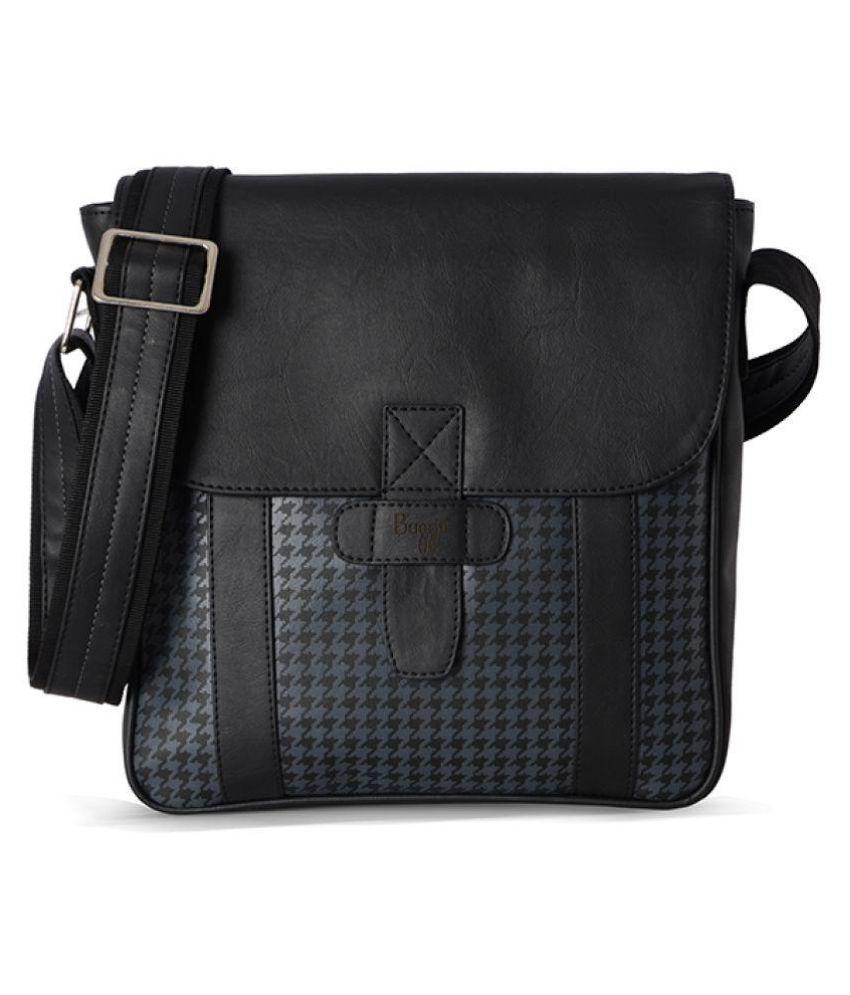 Baggit Black P U Sling Bag