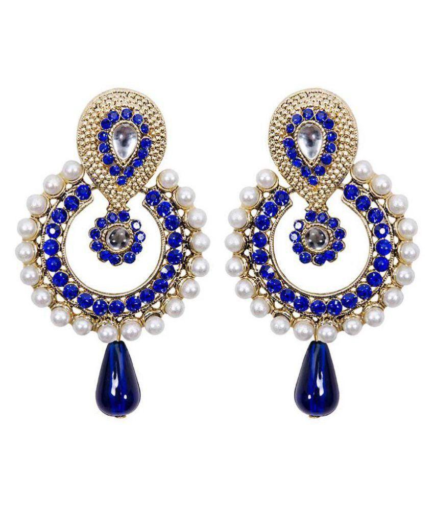 Jewels Capital Multicolour Chandelier Earrings Single Pair
