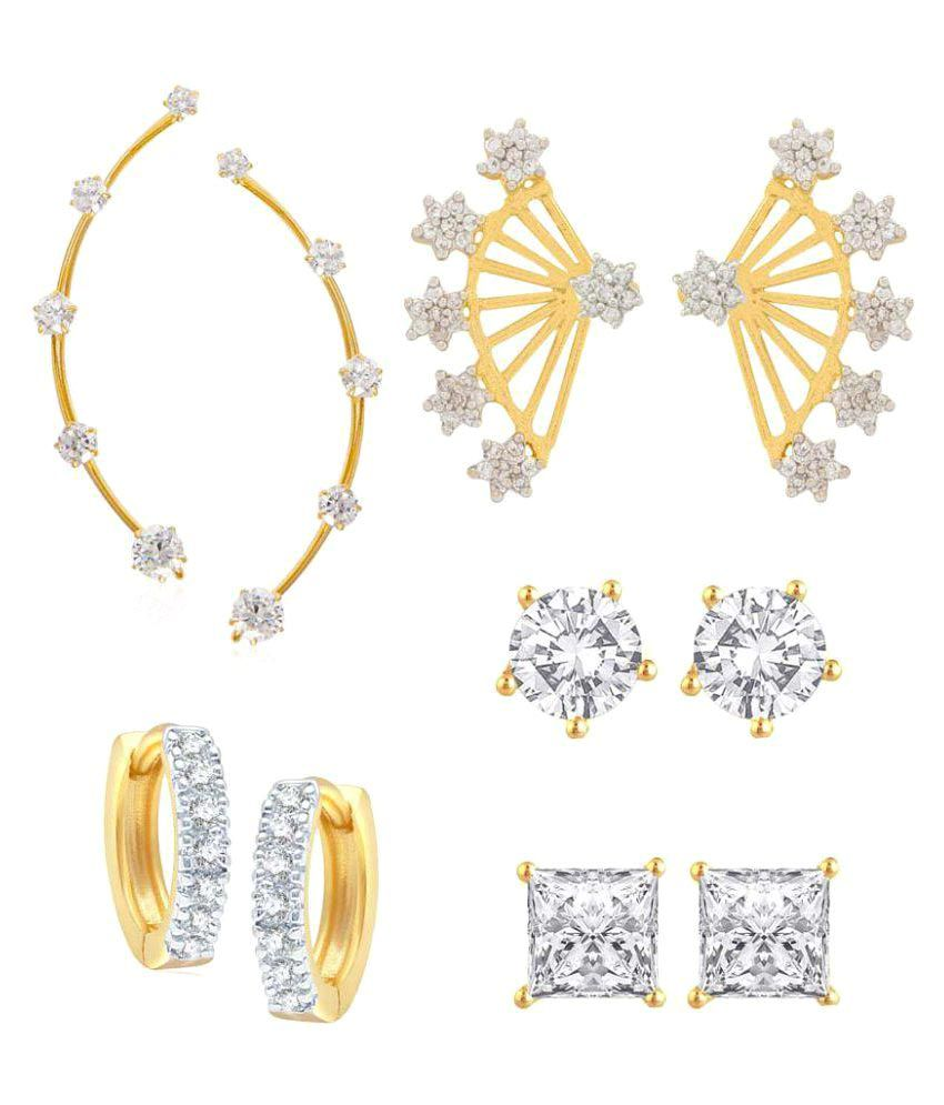 Jewels Gold Golden Earrings - Pair of 5