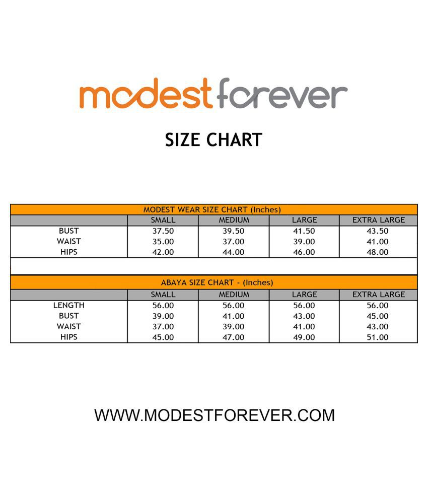 Forever Jeans Size Chart