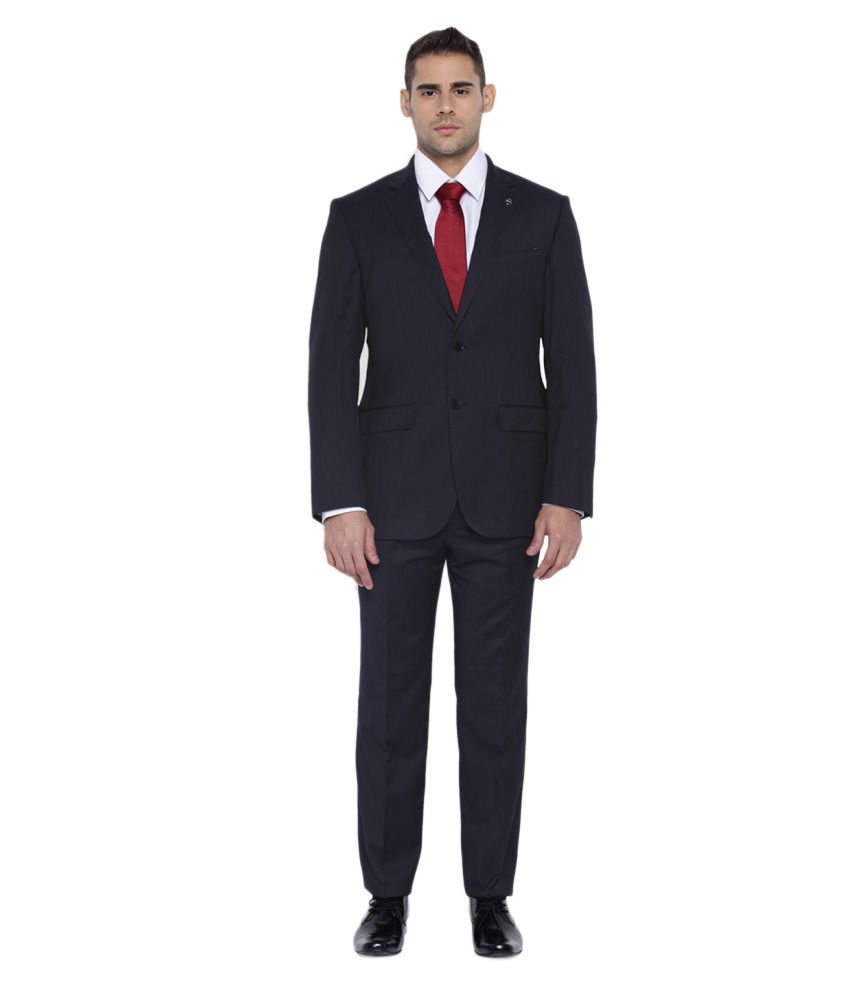 Park Avenue Blue Striped Formal Suit