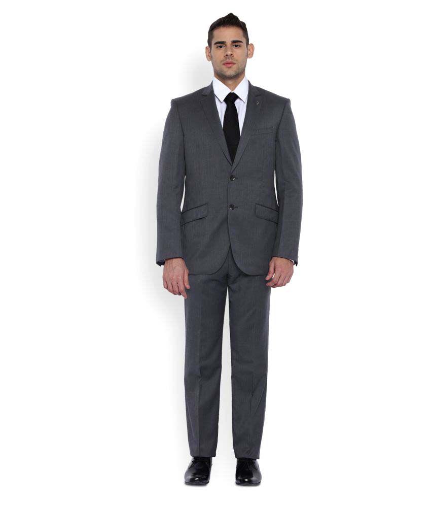 Park Avenue Grey Plain Formal Suit