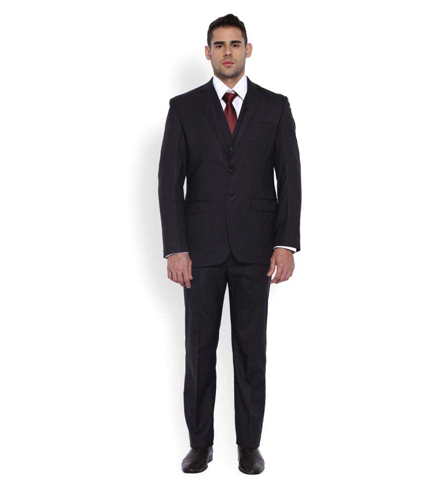 Park Avenue Grey Striped Formal Suit