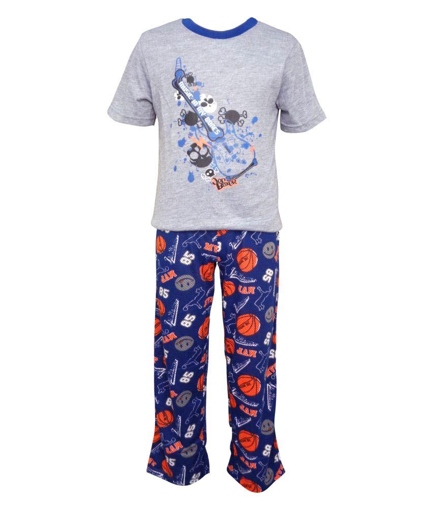 Jounior Boxer Multicolour Cotton Top and Pyjama Set