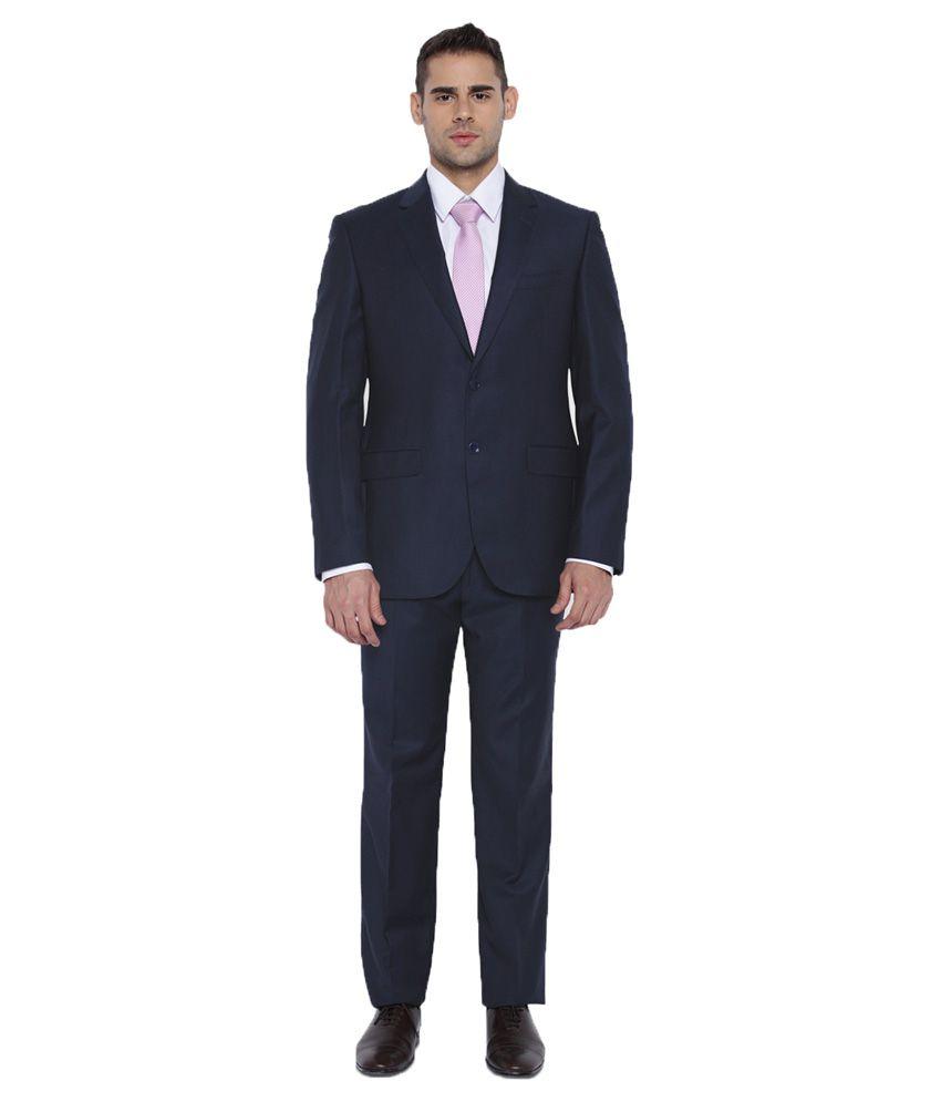 Park Avenue Blue Plain Formal Suit