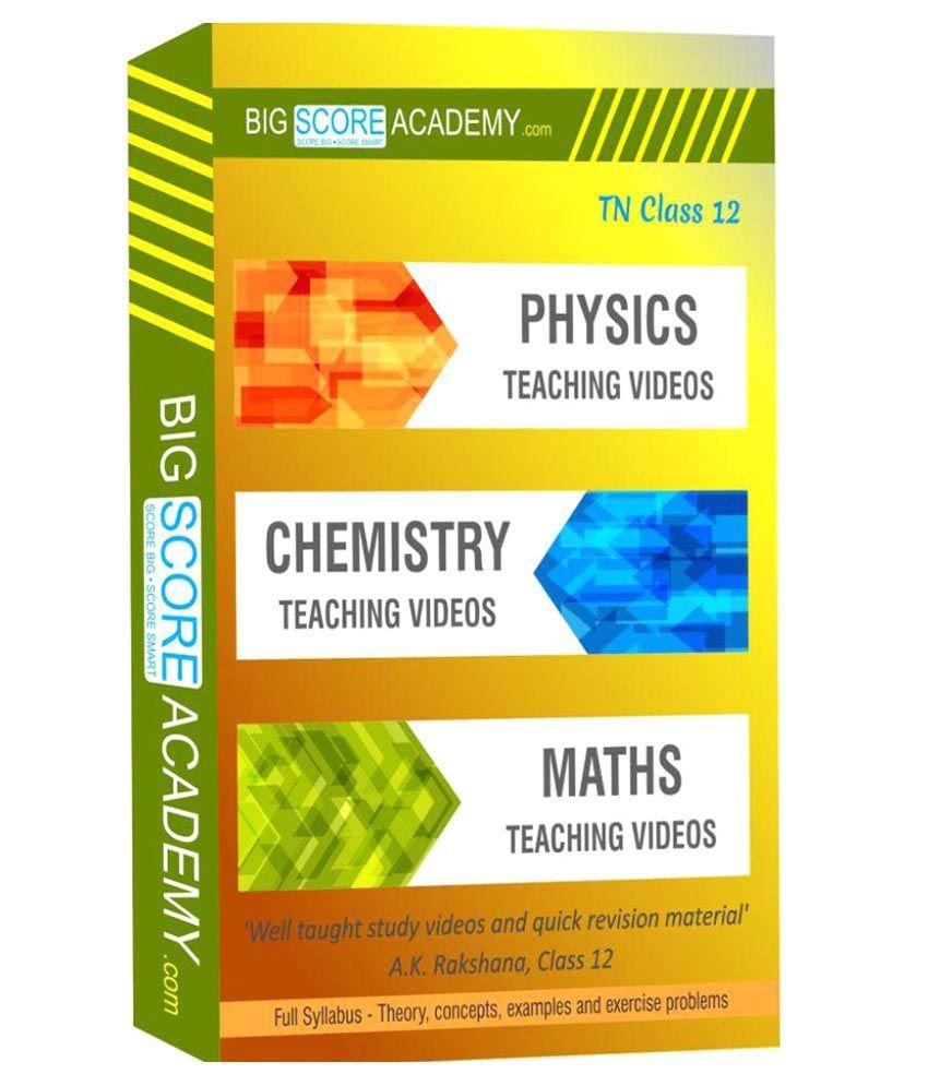 Tamil Nadu Samacheer Kalvi Class 12 - Physics, Chemistry, Maths Full  Syllabus Teaching Video (DVD) DVD