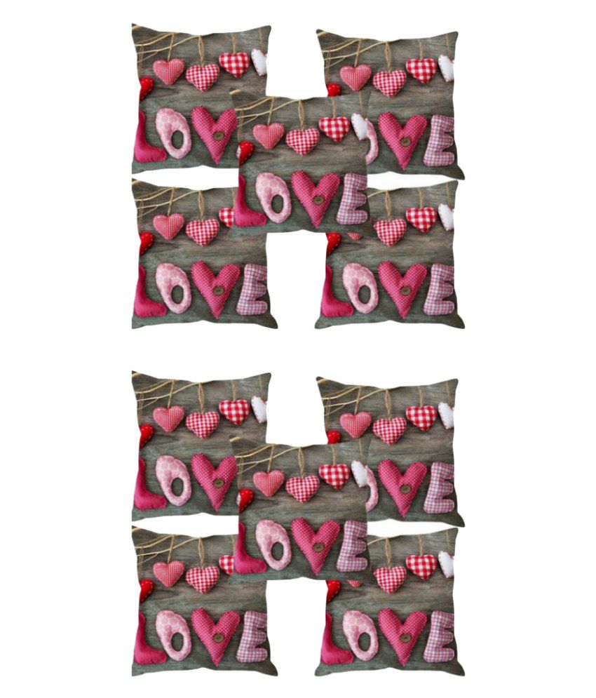 AJ Interio Set of 10 Polyester Cushion Covers