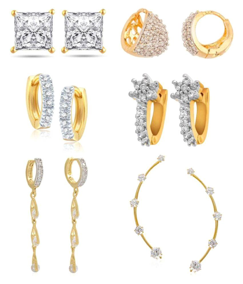 Jewels Gehna Traditional Stylish Fashionable Earring Set for Woman & Girls
