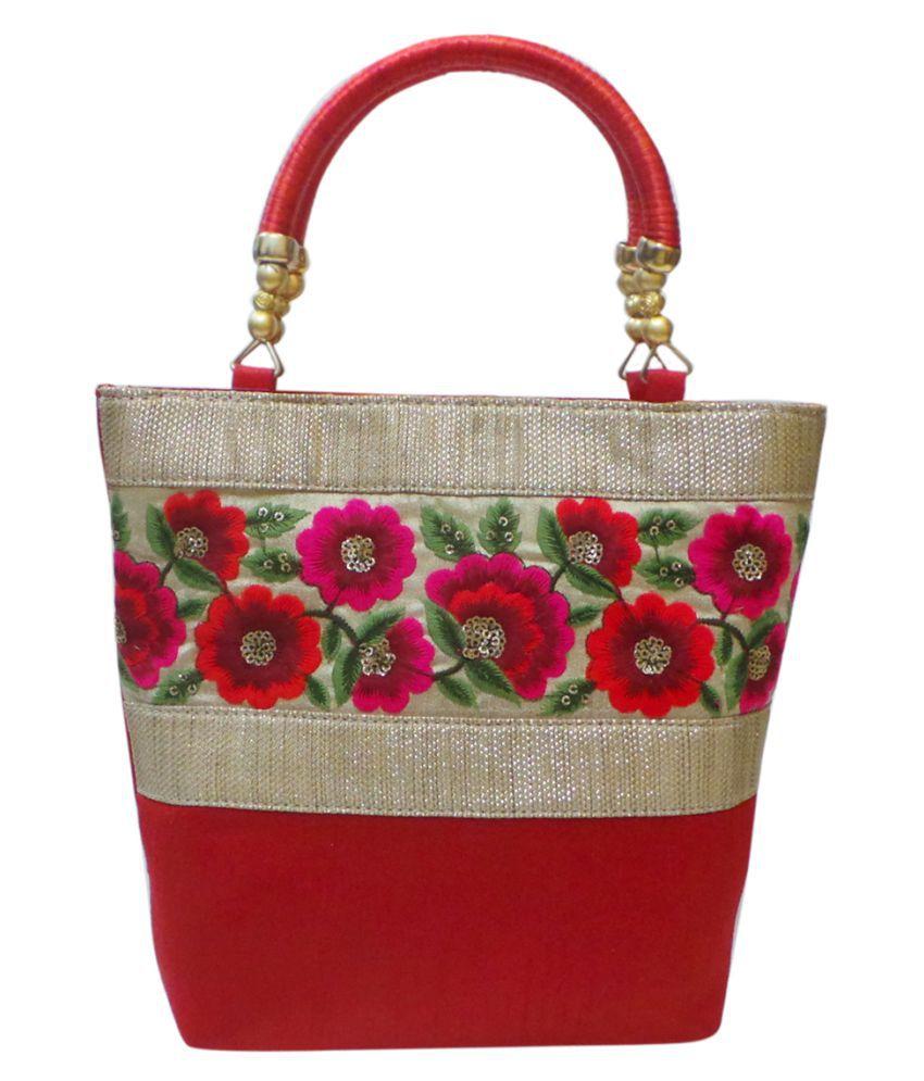 Vardhini Red Fabric Handheld