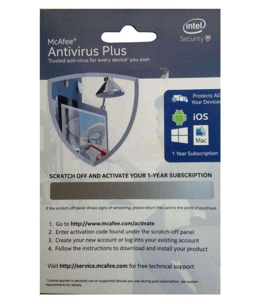 Free Mcafee Antivirus For 1 Year