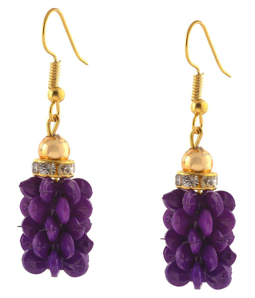 Zephyrr Purple Hangings Earrings