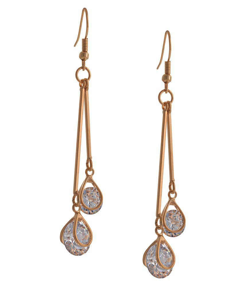 Zephyrr Golden Alloy Earrings