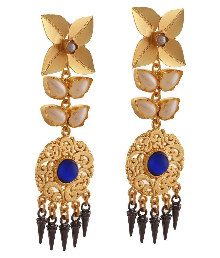 Zephyrr Golden Hanging Earrings