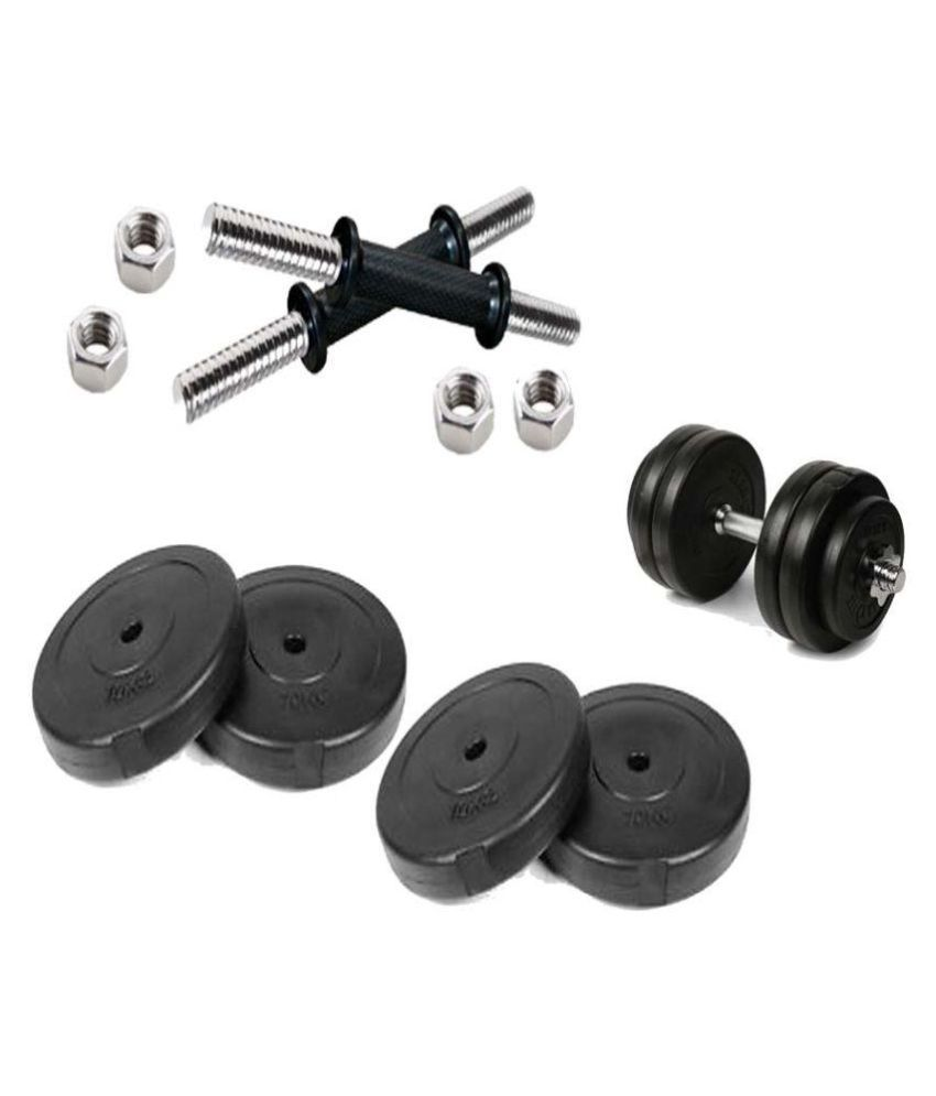 540490e675c Bodygrip 16 Kg Weight Plates With Dumbbells Rod Home Gym Set  Buy Online at  Best Price on Snapdeal