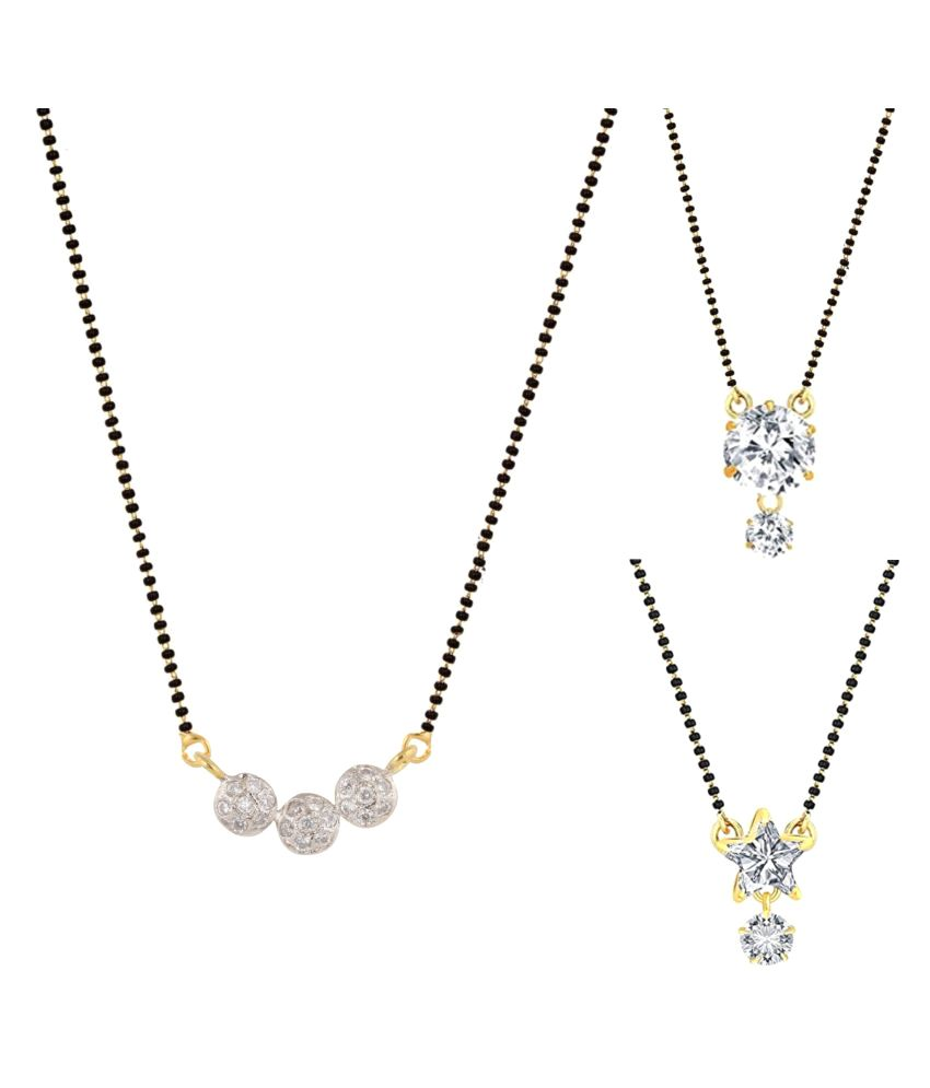 Archi Collection Pack of 3 CZ Mangalsutra Combo