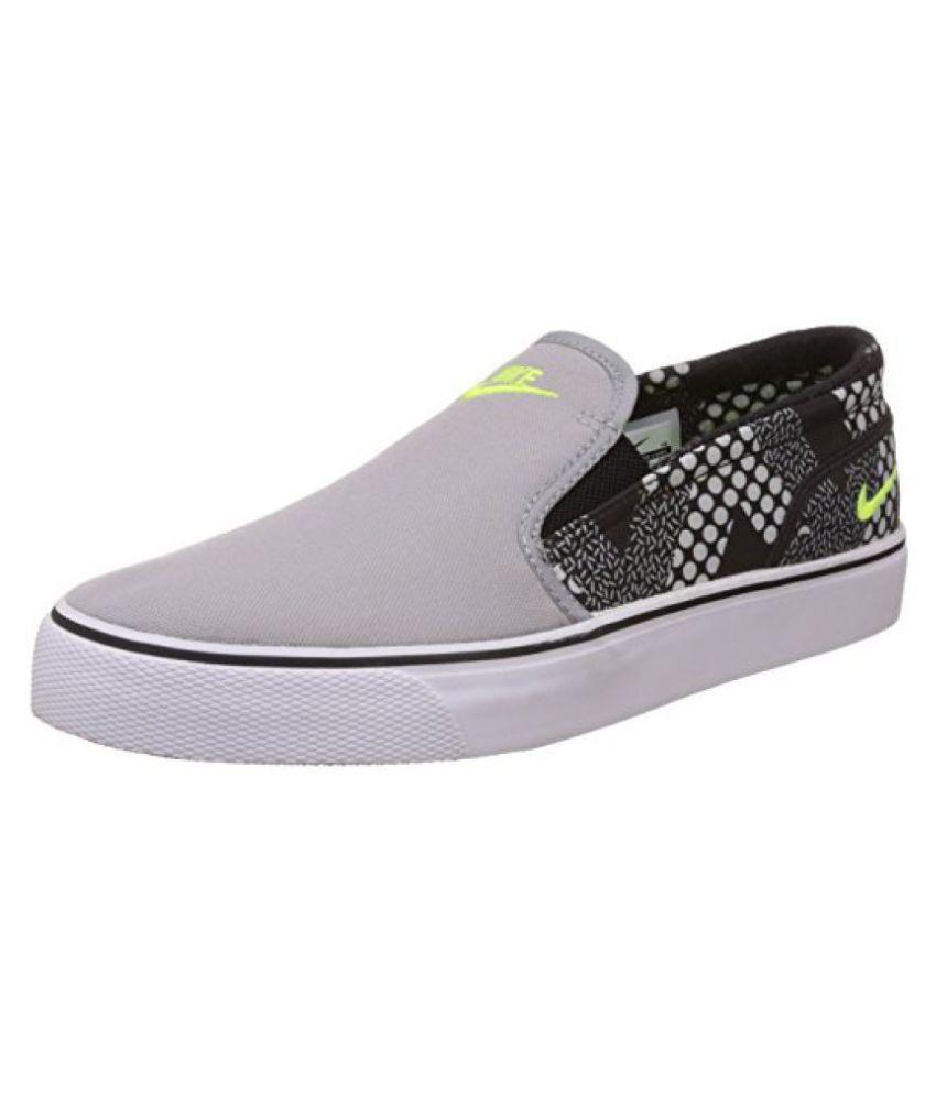 Nike Mens Toki Slip Txt Print Wolf Grey Leather Sneakers -11 ...