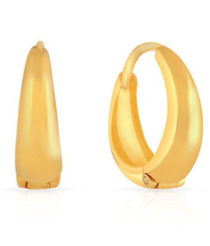 22k (916) Yellow Gold Stud Earrings
