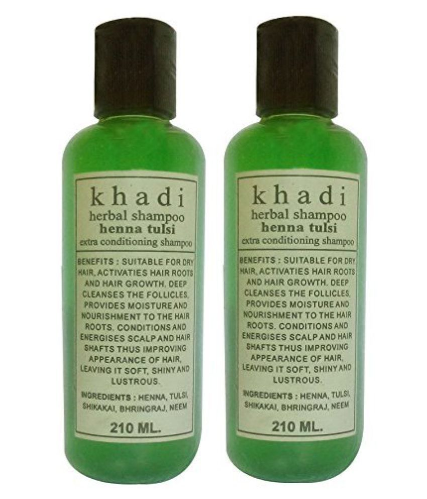 Khadi Herbal Henna Tulsi Shampoo Twin 420ml Buy Khadi Herbal