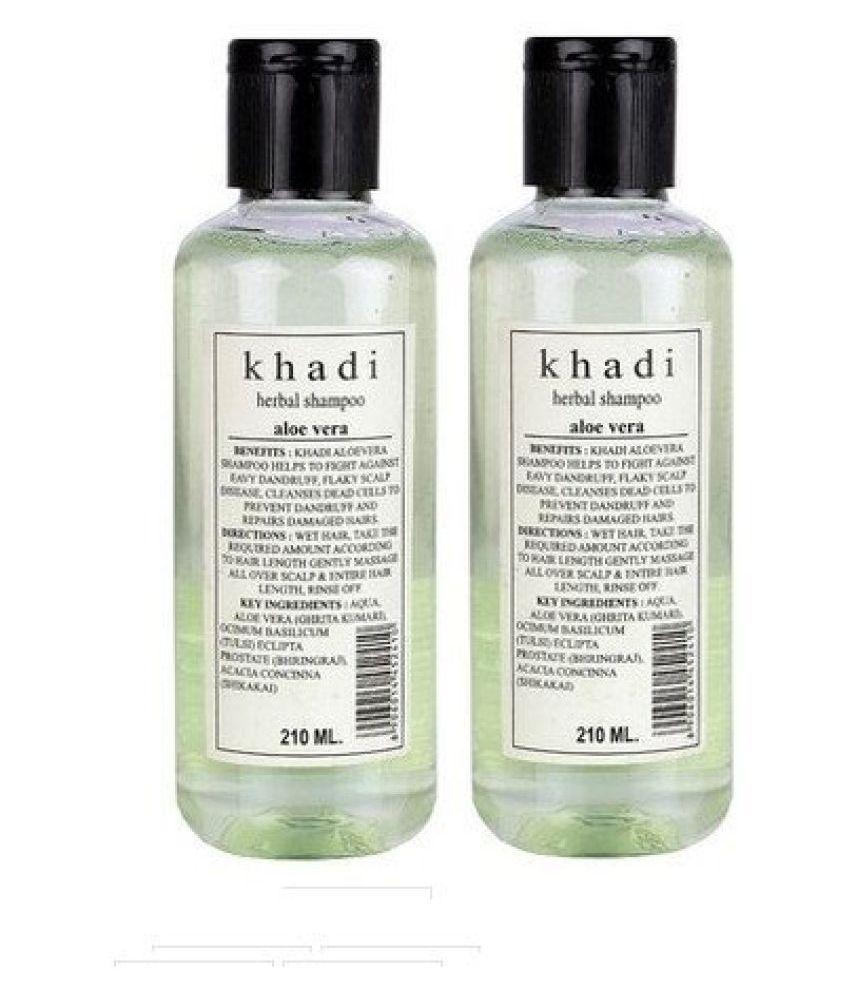 Khadi Herbal Shampoo Aloevera, 420ml (Twin Pack)