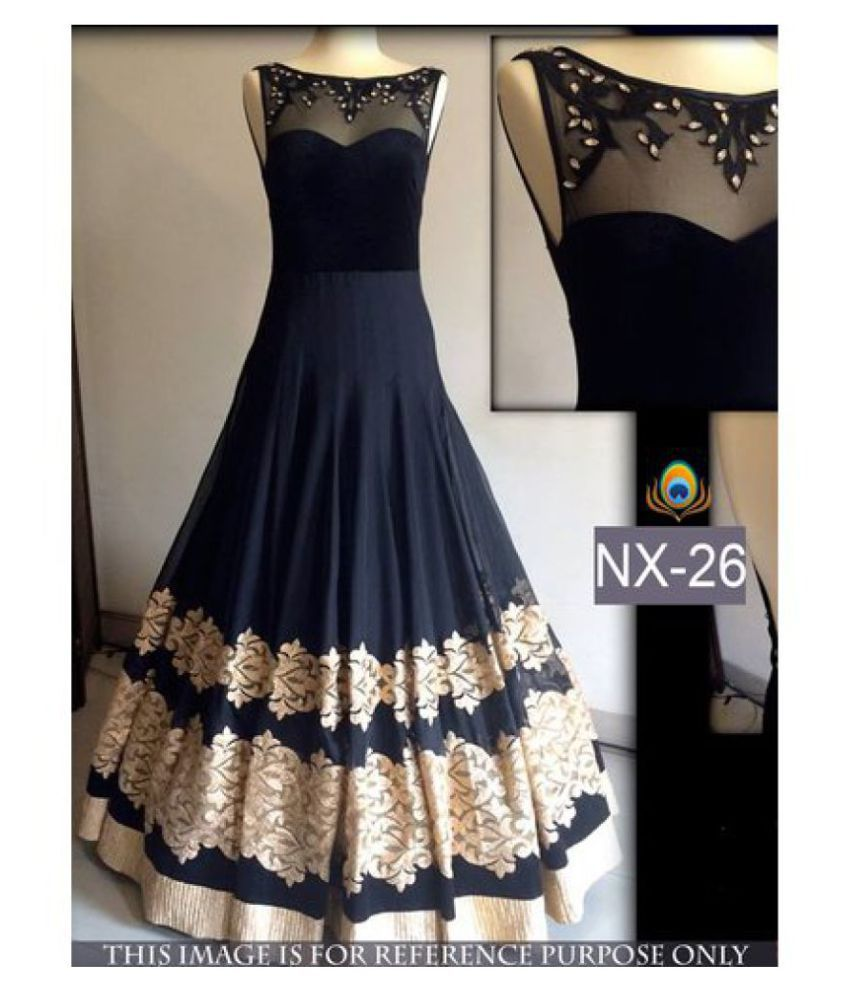 038b3e4aee Royal Export Women's Black Party Wear Gown - Buy Royal Export Women's Black Party  Wear Gown Online at Best Prices in India on Snapdeal