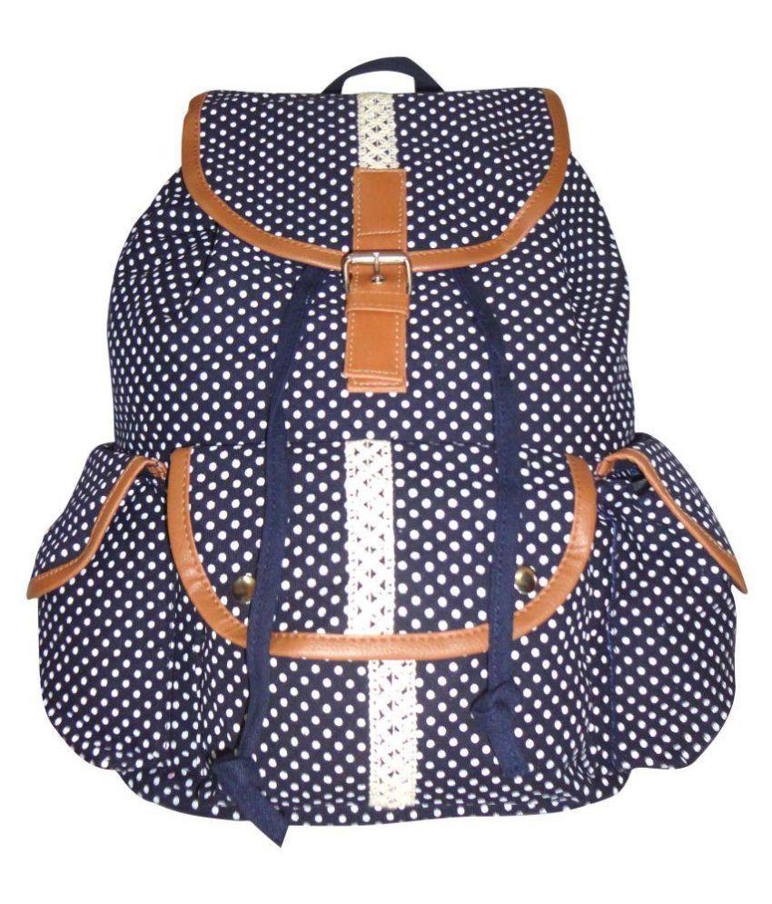 Yangti Blue Canvas Backpack