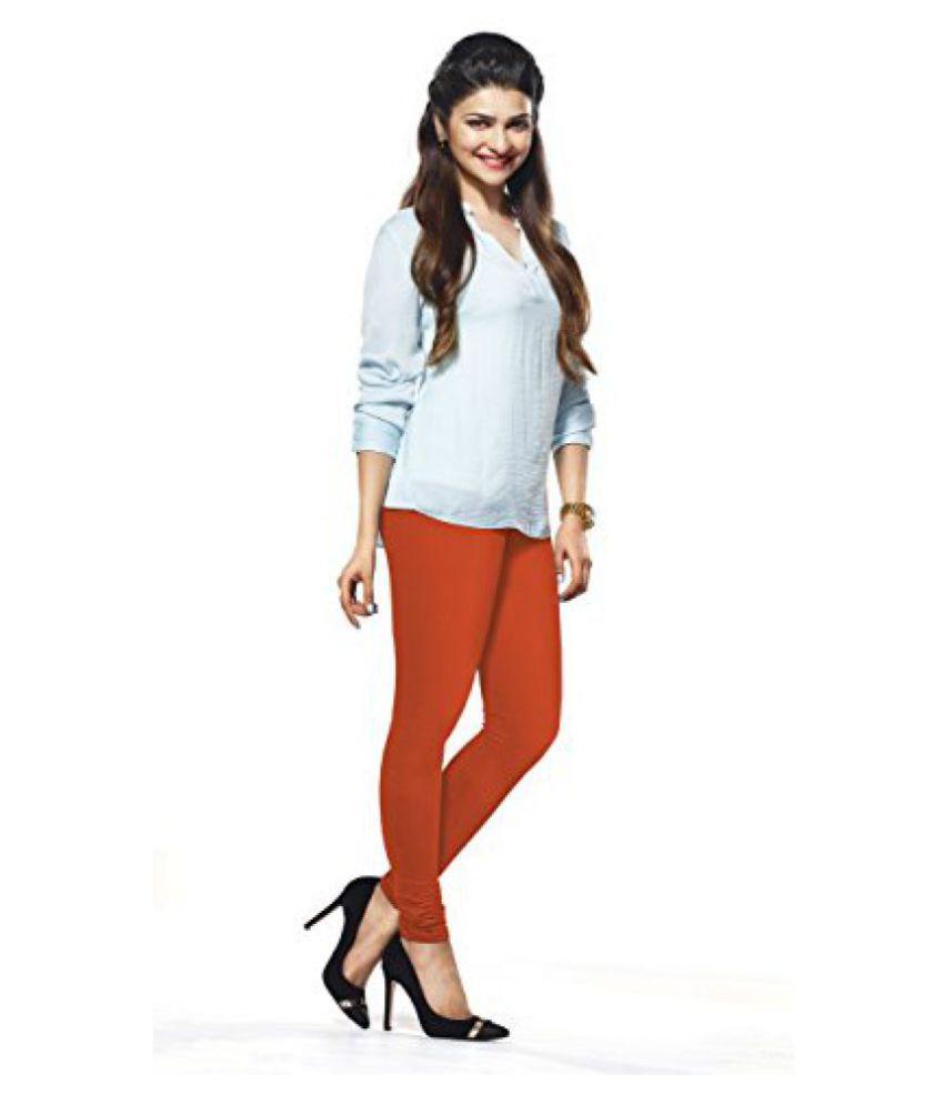 Lux Lyra Womens Orange Churidar Leggings