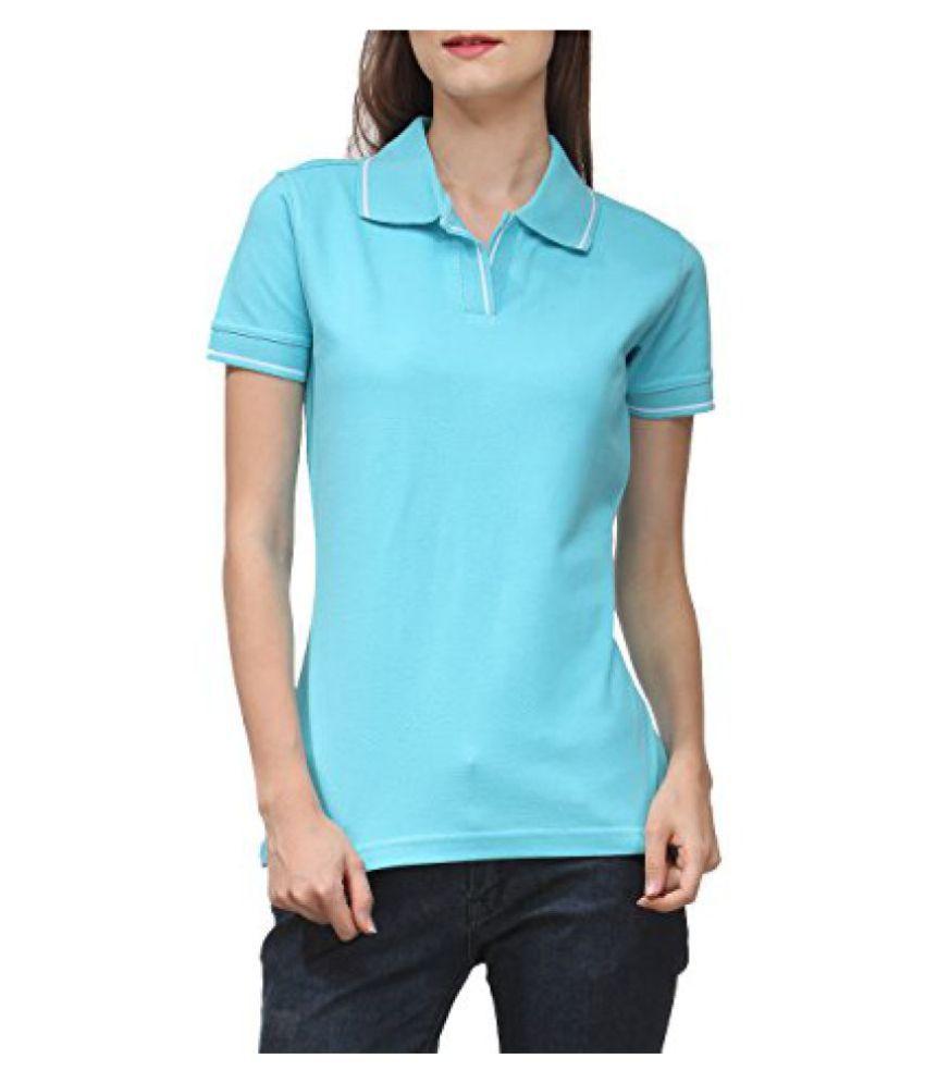 Scott Women's Premium Cotton Polo T-shirt - Electric Blue