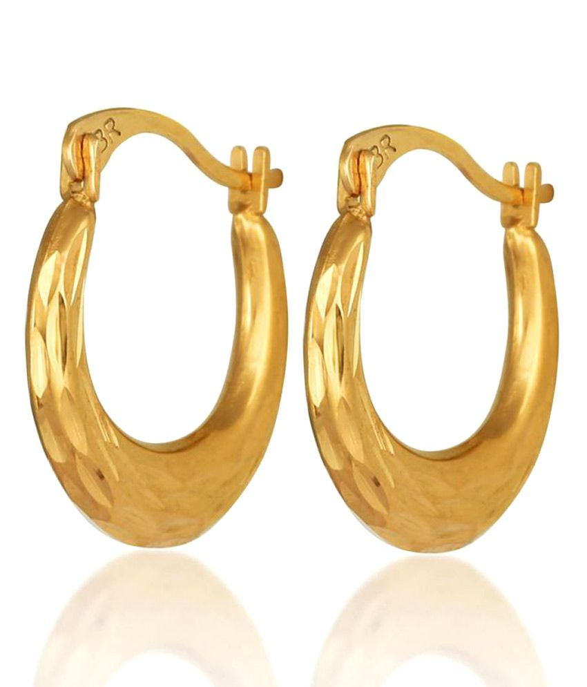 Hoop Gold Plated Brass Hoops