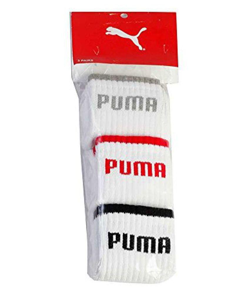 PUMA FULL Cushion SPORTS Socks WHITE (pack of 3)