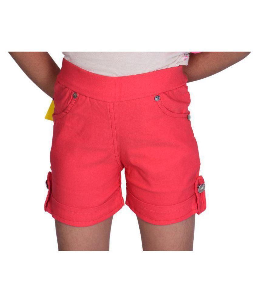 Neeya Fashions Pink Hot Pant