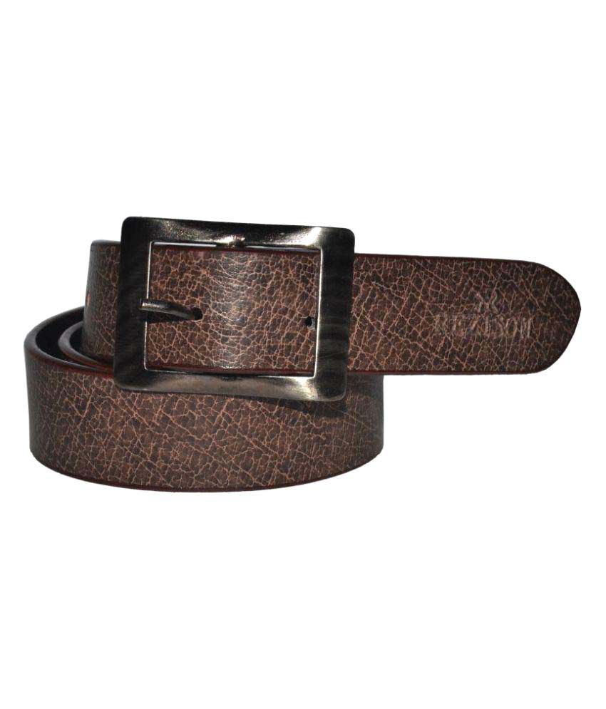 Rezison Brown Faux Leather Formal Belts