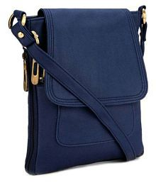 The Maxim Blue P.U. Sling Bag