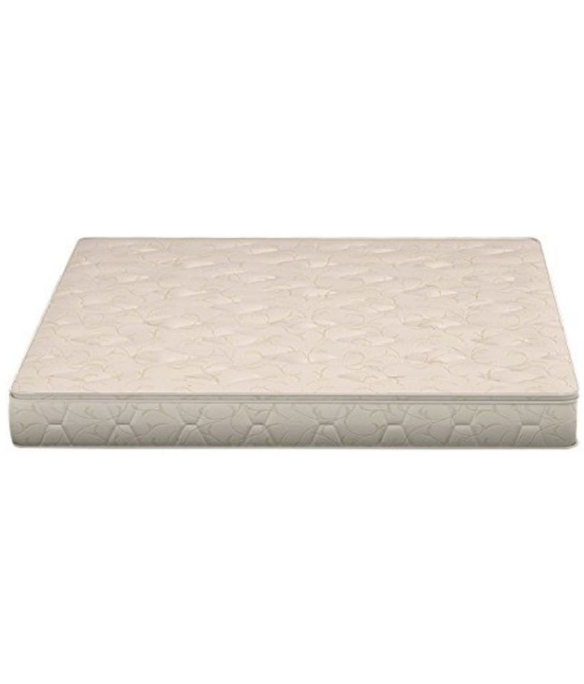 sleepwell esteem supportec mattress 78 x 60 x 6 inches off white