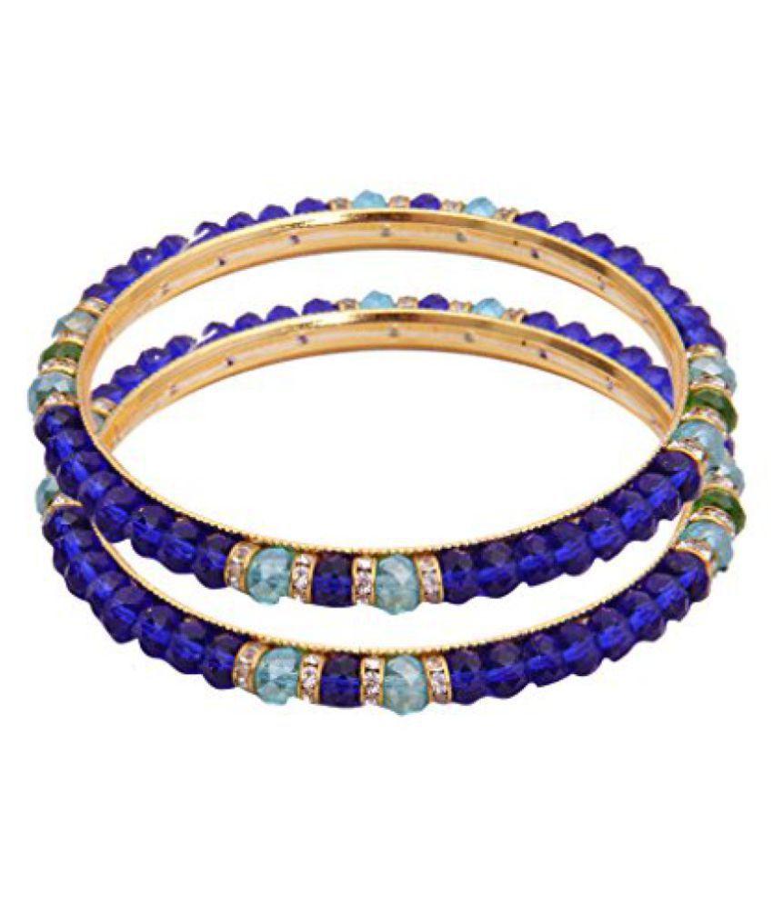 Classique Designer Dark Blue Color Bangles (cp681)