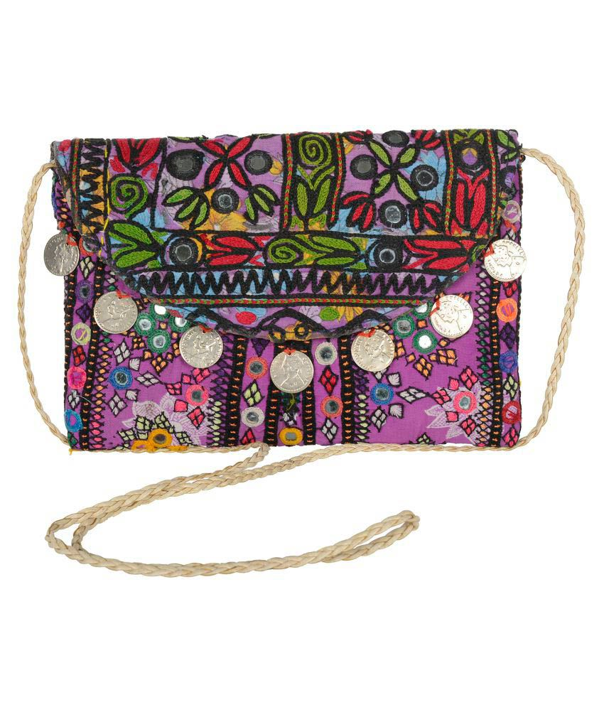 Jewel Fab Art Multi Cotton Sling Bag